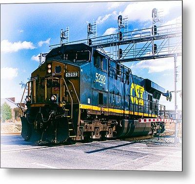 Csx 5292 Warner Street Crossing Metal Print by Bill Swartwout