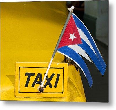 Cuba Taxi Metal Print by Norman Pogson