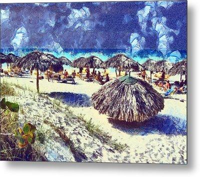 Cuban Beach Metal Print by Odon Czintos