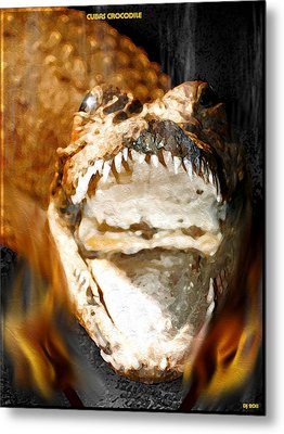Metal Print featuring the digital art Cuban Crocodile by Daniel Janda