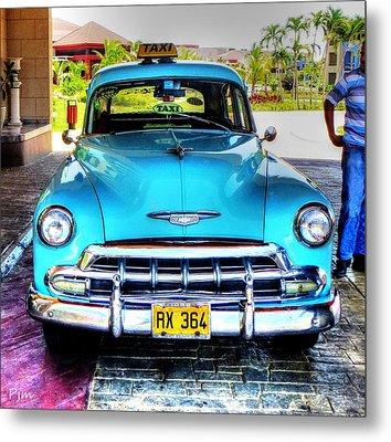 Cuban Taxi Metal Print
