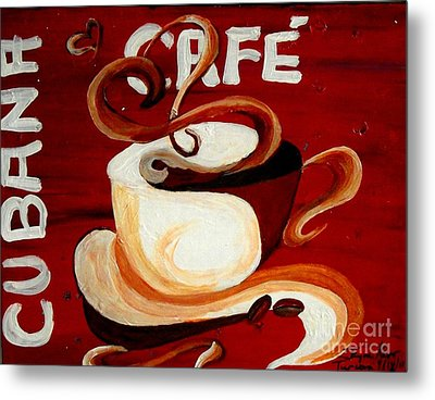 Cubana Cafe Metal Print by Jayne Kerr