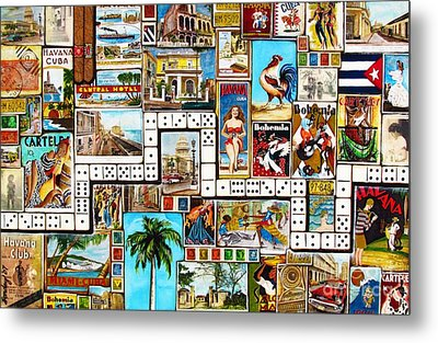 Metal Print featuring the painting Cubana by Joseph Sonday