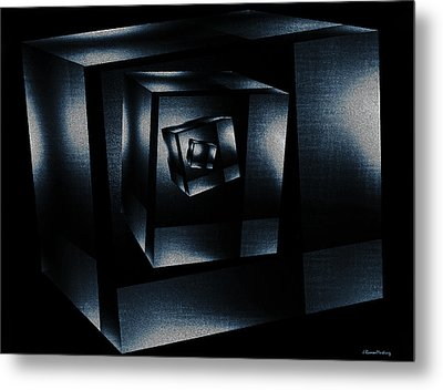 Cube In Cube Metal Print by Ramon Martinez