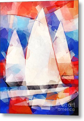 Cubic Sails Metal Print by Lutz Baar