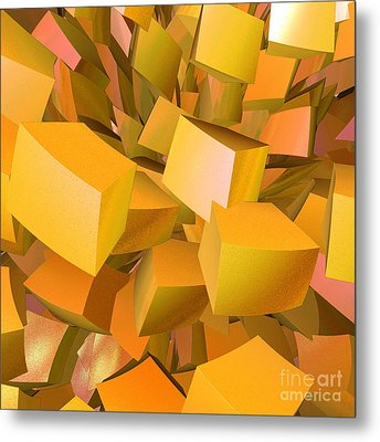 Cubist Melon Burst By Jammer Metal Print