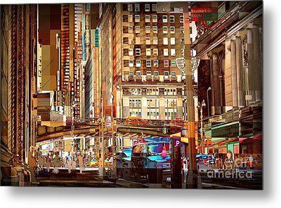 Grand Central And 42nd St Metal Print by Miriam Danar