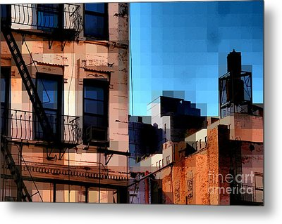Up On The Roof Metal Print by Miriam Danar