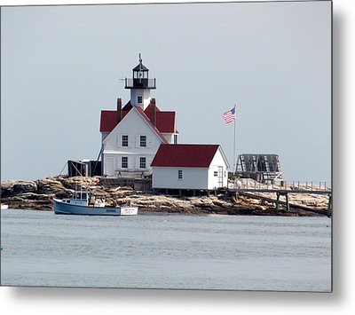 Cuckholds Lighthouse Metal Print by Catherine Gagne