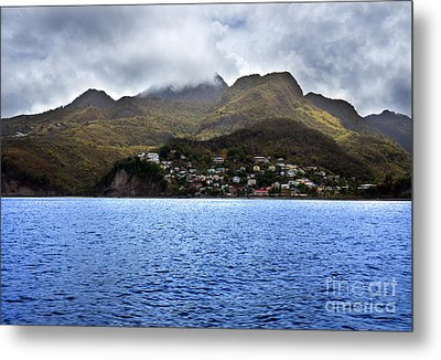 Cuddled  Fishing Village Metal Print