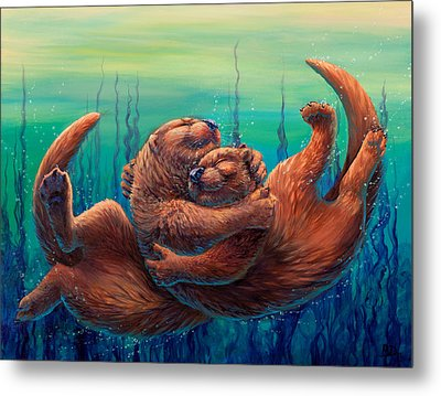 Cuddles And Bubbles Metal Print
