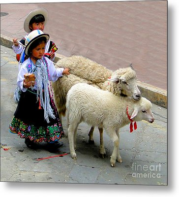 Cuenca Kids 233 Metal Print by Al Bourassa