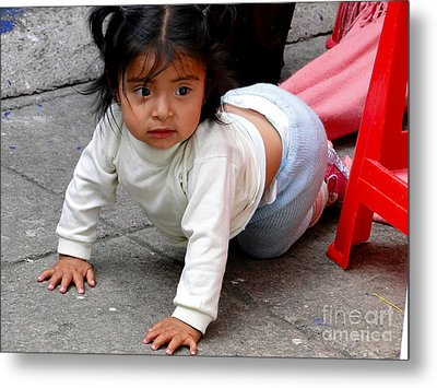 Cuenca Kids 251 Metal Print by Al Bourassa