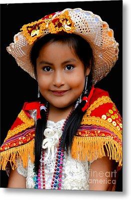 Cuenca Kids 447 Metal Print by Al Bourassa