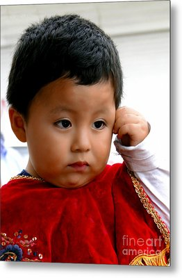 Cuenca Kids 474 - The Thinker? Metal Print