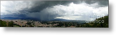 Cuenca Storm Panorama Metal Print by Al Bourassa