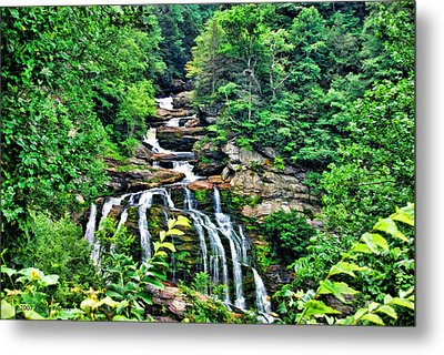 Metal Print featuring the photograph Cullasaja Falls by Kenny Francis