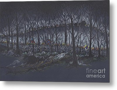 Culp's Hill Assault Metal Print by Scott and Dixie Wiley
