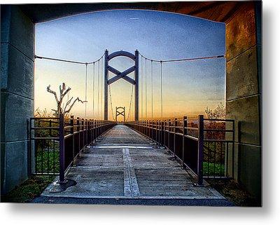 Cumberland River Pedestrian Bridge Metal Print by Patrick Collins