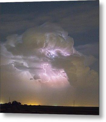 Cumulonimbus Cloud Explosion Portrait Metal Print