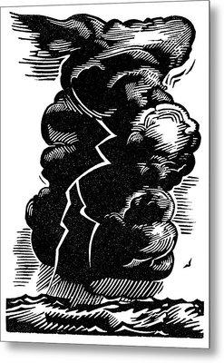 Cumulonimbus Thunderstorm Metal Print