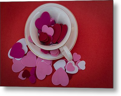 Metal Print featuring the photograph Cup Full Of Love by Patrice Zinck