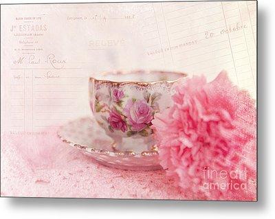 Cup Of Tea Metal Print by Kay Pickens