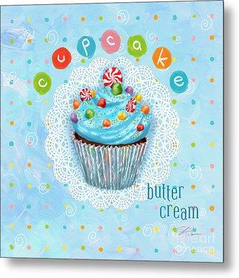 Cupcake-butter Cream Metal Print by Shari Warren