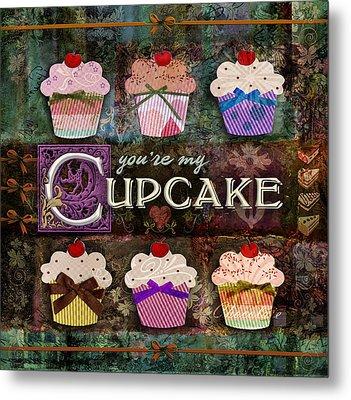 Cupcake Metal Print by Evie Cook