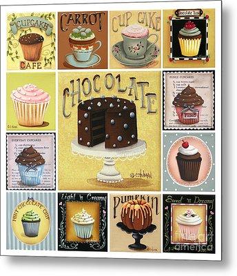 Cupcake Mosaic Metal Print by Catherine Holman