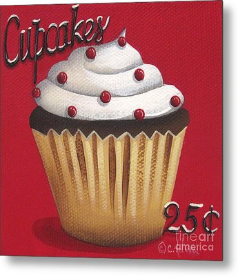 Cupcakes 25 Cents Metal Print by Catherine Holman