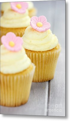 Cupcakes In A Row Metal Print