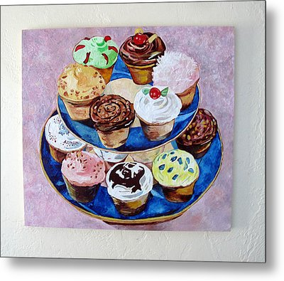 Cupcakes Metal Print by Marianne Clancy