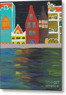Curacao Nights Metal Print by Melissa Vijay Bharwani
