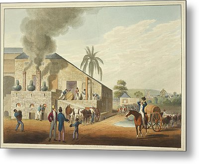Curing-house And Stills Metal Print by British Library