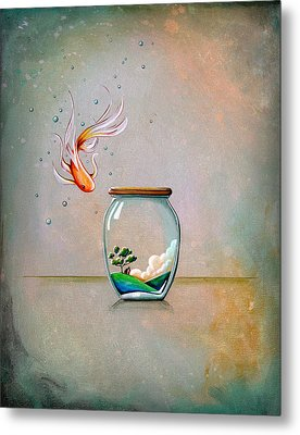 Curiosity Metal Print by Cindy Thornton