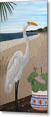 Curious Neighbor Metal Print by Linda Pieroth Smith