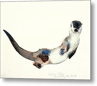 Curious Otter Metal Print by Mark Adlington