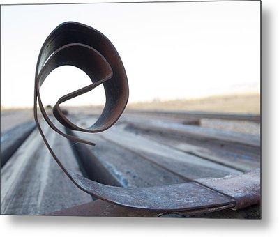 Curled Steel Metal Print by Fran Riley