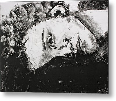 Curls Metal Print by Amanda Just