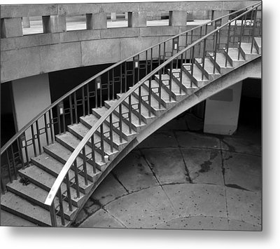 Metal Print featuring the photograph Curly Stairway by Dorin Adrian Berbier