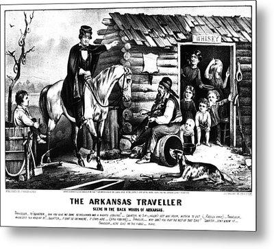 Currier & Ives The Arkansas Traveller Metal Print