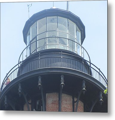 Metal Print featuring the photograph Currituck Beach Light by Cathy Lindsey