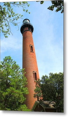 Currituck Beach Lighthouse Corolla North Carolina Outer Banks Obx Metal Print