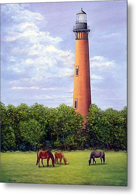 Currituck Lighthouse Metal Print by Fran Brooks