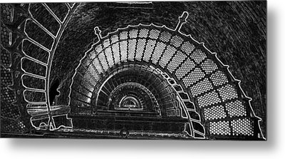 Metal Print featuring the photograph Currituck Lighthouse Stairs by Greg Reed