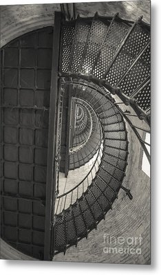 Currituck Lighthouse Stairs Metal Print by Kay Pickens