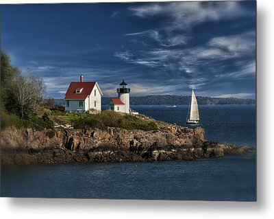Curtis Island Lighthouse Maine Img 5988 Metal Print by Greg Kluempers