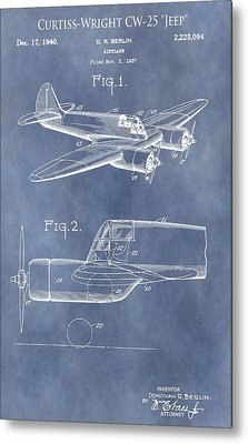Curtiss-wright Cw-25 Patent Metal Print by Dan Sproul