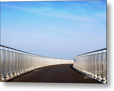 Curved Bridge Metal Print